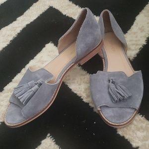 TOPSHOP Tassel slip on sandals